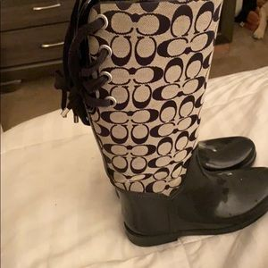 Coach rain boots.